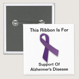 Alzheimer's Awareness - Square Button