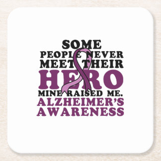 Alzheimer's Awareness Support Gif Square Paper Coaster
