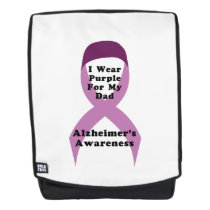 Alzheimers Awareness Wear For My Dad Gif Backpack