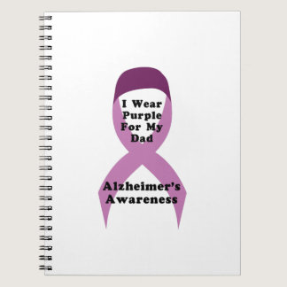 Alzheimers Awareness Wear For My Dad Gif Notebook