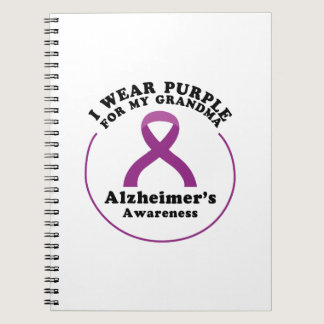 Alzheimers Awareness Wear For My Grandma Gift Notebook