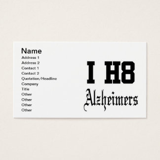 alzheimers business card