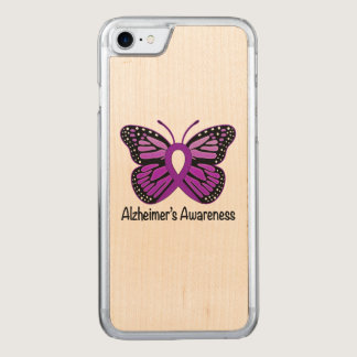 Alzheimer's Butterfly Awareness Ribbon Carved iPhone 7 Case