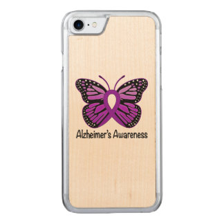 Alzheimer's Butterfly Awareness Ribbon Carved iPhone 8/7 Case