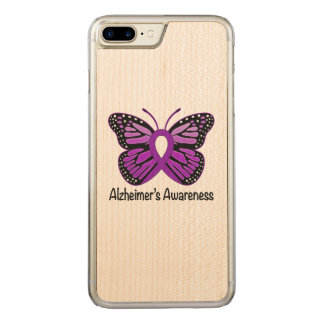 Alzheimer's Butterfly Awareness Ribbon Carved iPhone 8 Plus/7 Plus Case