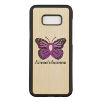 Alzheimer's Butterfly Awareness Ribbon Carved Samsung Galaxy S8  Case