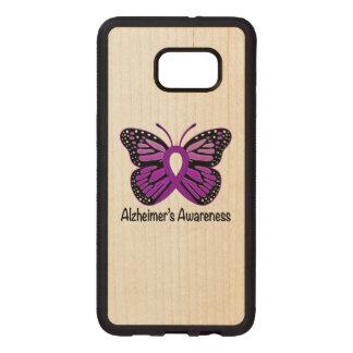 Alzheimer's Butterfly Awareness Ribbon Wood Samsung Galaxy S6 Edge Case