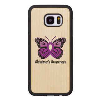 Alzheimer's Butterfly Awareness Ribbon Wood Samsung Galaxy S7 Edge Case