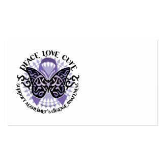 Alzheimers Butterfly Tribal 2 Business Card Templates