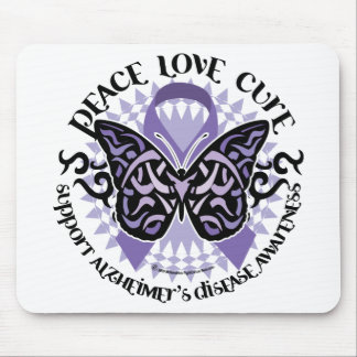 Alzheimers Butterfly Tribal 2 Mouse Pad
