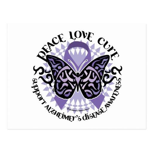 Alzheimers Butterfly Tribal 2 Postcard