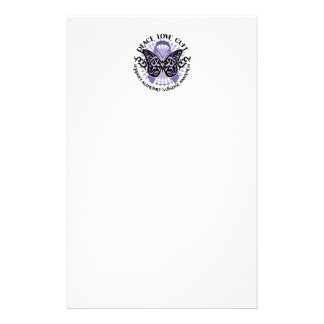 Alzheimers Butterfly Tribal 2 Stationery