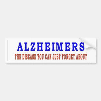 ALZHEIMERS CAR BUMPER STICKER