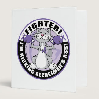 Alzheimers Cat Fighter 3 Ring Binder
