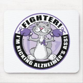 Alzheimers Cat Fighter Mouse Pad