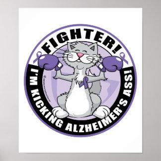 Alzheimers Cat Fighter Print
