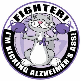 Alzheimers Cat Fighter Statuette