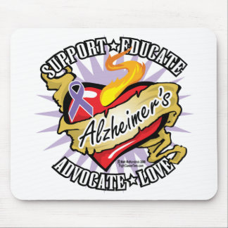 Alzheimers Classic Heart Mouse Pad