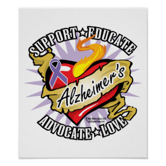 Alzheimers Classic Heart Print