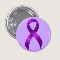Alzheimers | Crohns & Colitis | Purple Ribbon Button