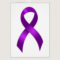 Alzheimers | Crohn's & Colitis | Purple Ribbon Card