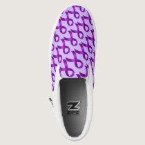Alzheimer's | Crohn's & Colitis - Purple Ribbon Slip-On Sneakers