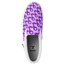 Alzheimer's | Crohn's & Colitis - Purple Ribbon Slip-On Sneakers