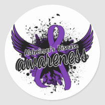 Alzheimer's Disease Awareness 16 Classic Round Sticker