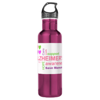 Alzheimer's Disease Awareness 24oz Water Bottle