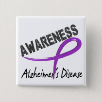 Alzheimer's Disease Awareness 3 Pinback Button