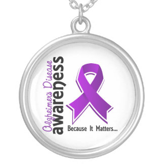 Alzheimer's Disease Awareness 5 Silver Plated Necklace