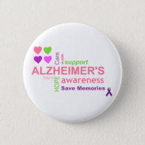 Alzheimer's Disease Awareness Button