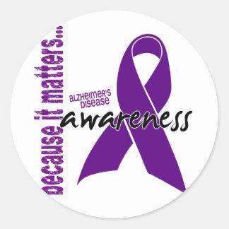 Alzheimers Disease Awareness Classic Round Sticker