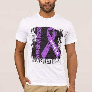 Alzheimers Disease Awareness Grunge Ribbon T-Shirt