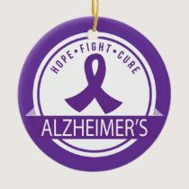 Alzheimers Disease Awareness Hope Ornament
