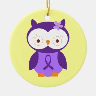 Alzheimers Disease Awareness Owl Ornament