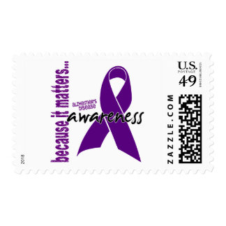 Alzheimers Disease Awareness Postage