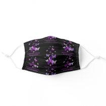 Alzheimer's Disease Awareness Purple Ribbon Cloth Face Mask