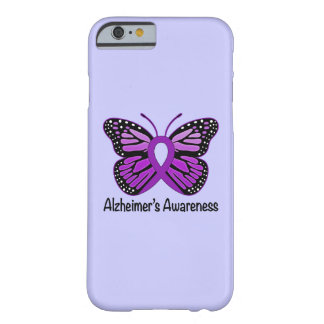 Alzheimer's Disease Awareness Ribbon and Butterfly Barely There iPhone 6 Case