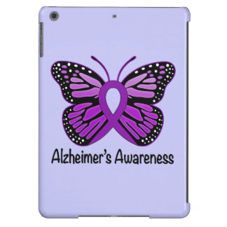 Alzheimer's Disease Awareness Ribbon and Butterfly iPad Air Cover
