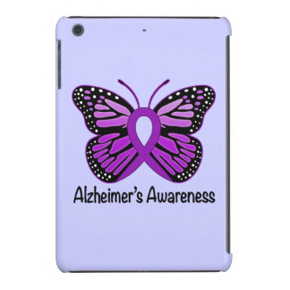 Alzheimer's Disease Awareness Ribbon and Butterfly iPad Mini Retina Cases