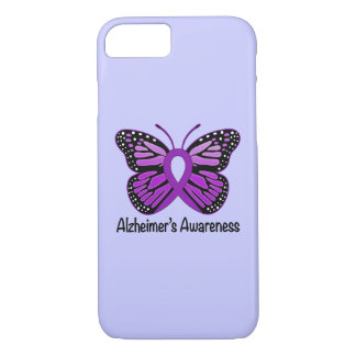 Alzheimer's Disease Awareness Ribbon and Butterfly iPhone 8/7 Case