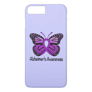 Alzheimer's Disease Awareness Ribbon and Butterfly iPhone 8 Plus/7 Plus Case