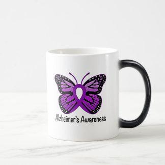 Alzheimer's Disease Awareness Ribbon and Butterfly Magic Mug
