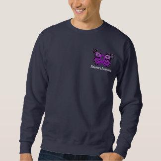 Alzheimer's Disease Awareness Ribbon and Butterfly Sweatshirt