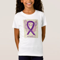 Alzheimer's Disease Awareness Ribbon Angel Shirt