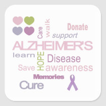 Alzheimer's Disease Awareness Sticker