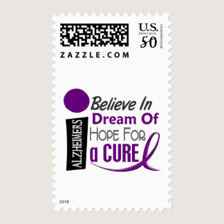 Alzheimer's Disease BELIEVE DREAM HOPE Postage