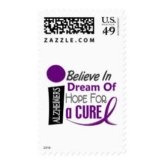Alzheimer's Disease BELIEVE DREAM HOPE Postage
