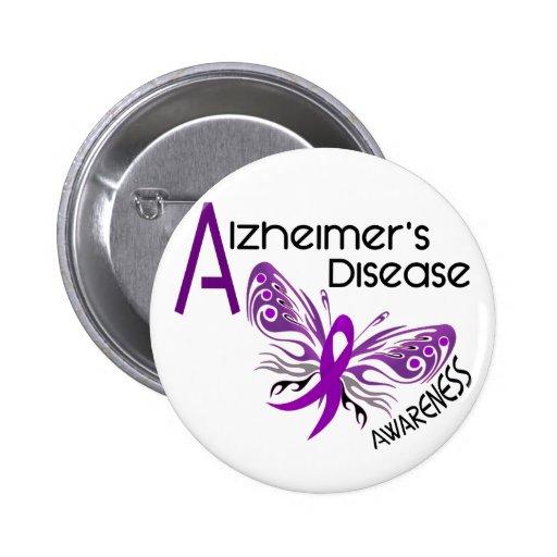 Alzheimer's Disease BUTTERFLY 3 Awareness Pinback Buttons